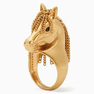 NEW Kate Spade Wild Ones Horse Ring